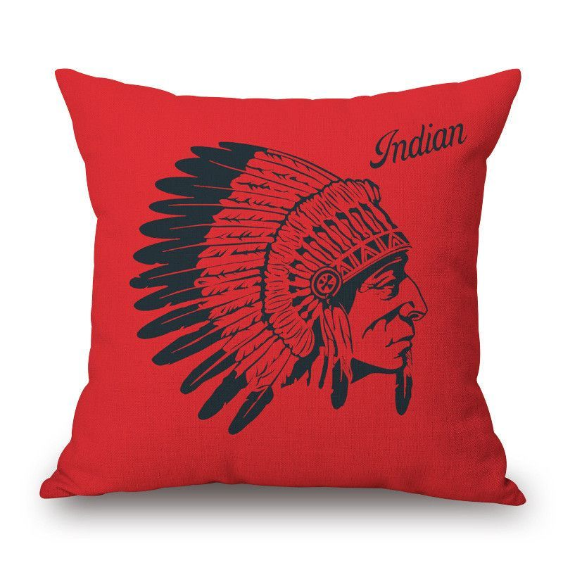 American Indian Style Peacock Feather One Side Printing Home Decor Extraordinary Indian Style Decorative Pillows