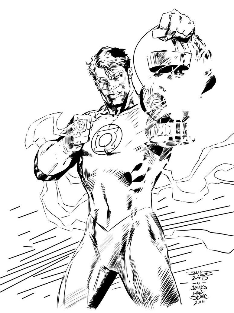 green lantern hal jordan art by jim lee