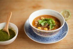 パクチーのスープ(ハリラスープ)