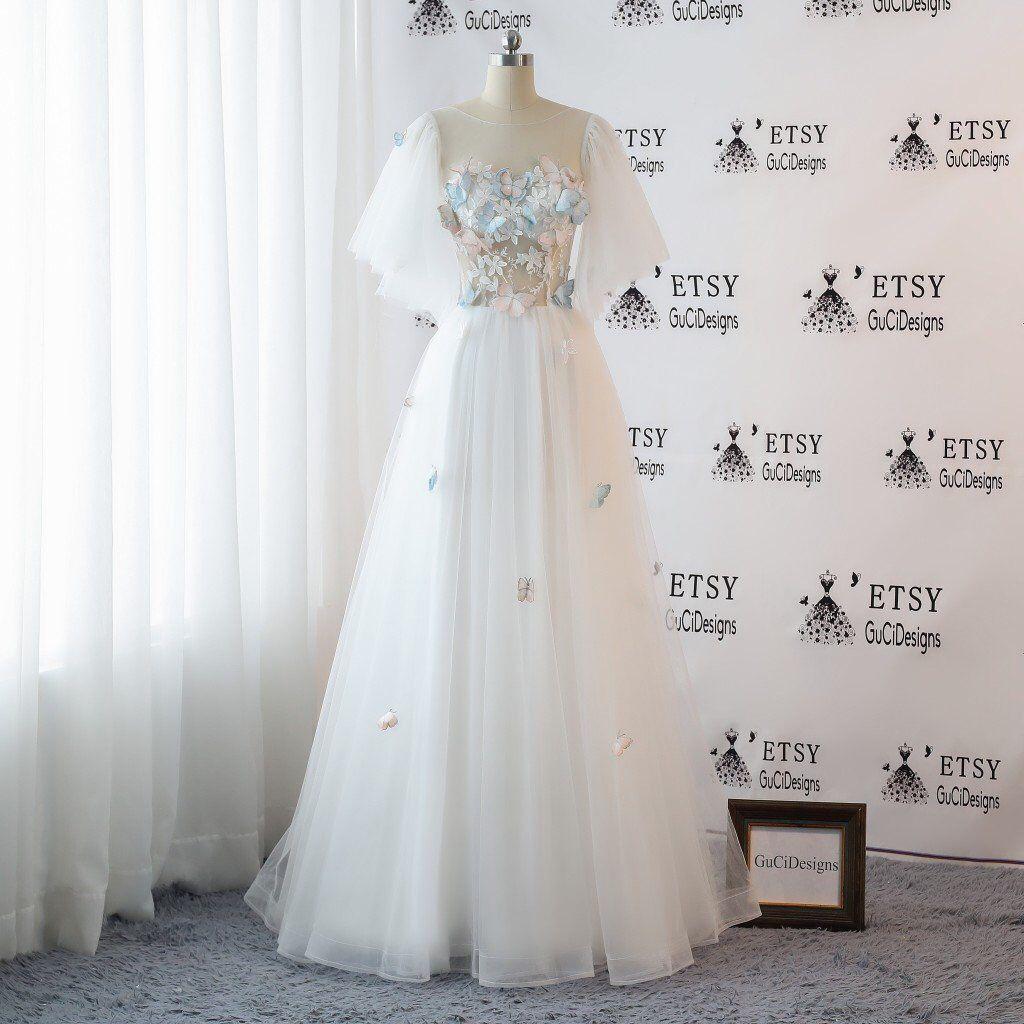 romantic wedding dresses white bridal gown lace boho wedding