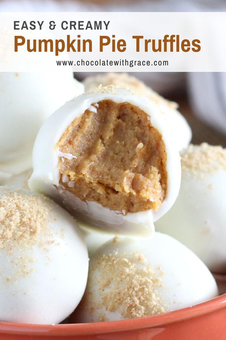 Pumpkin Pie Truffles - Chocolate With Grace