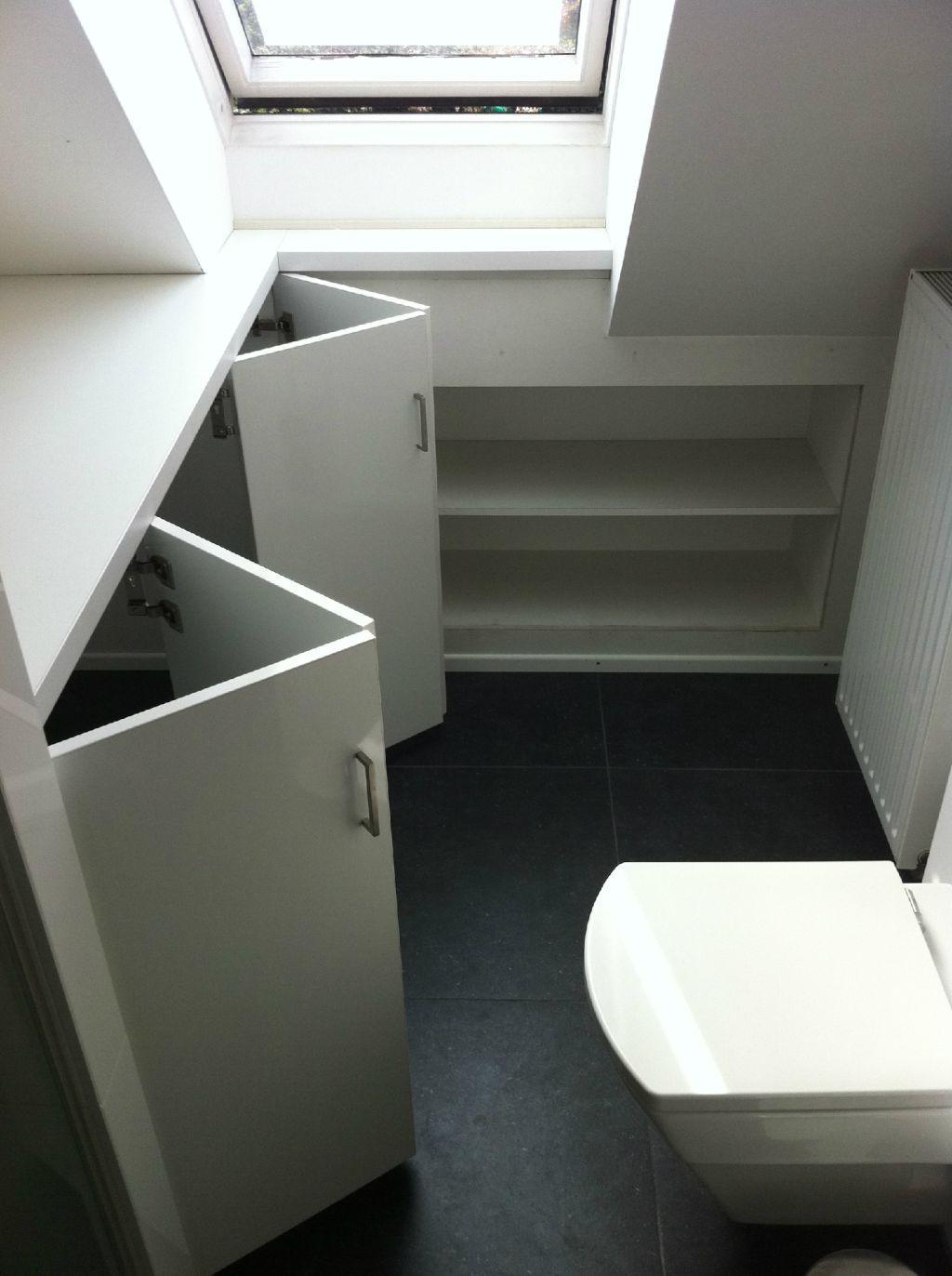 deurtjes voor de badkamer om wasmachine weg te werken | Dakvilla ...