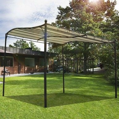 Buy Canopy Metal Wall Gazebo Awning Garden Shelter Door Porch 3m X