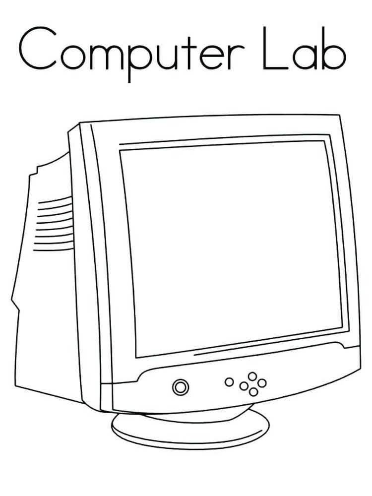 Coloring Pages Computer Technology Who Doesn T Know A Computer Almost Everyone Has A Computer In Their Home In 2020 Computer Lab Coloring Pages Cool Coloring Pages