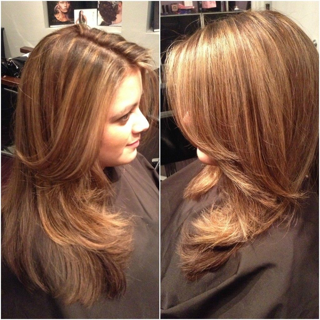 Long Hairstyles Frost Or Highlights Highlights Caramel