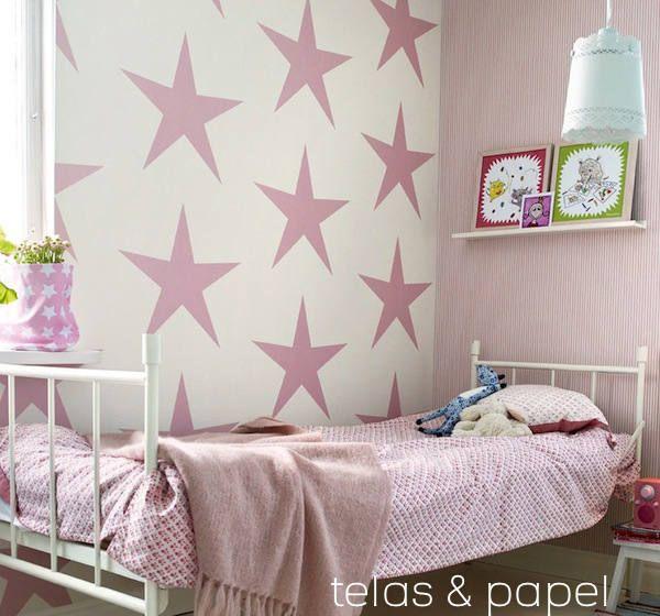 papel pintado infantil con estrellas
