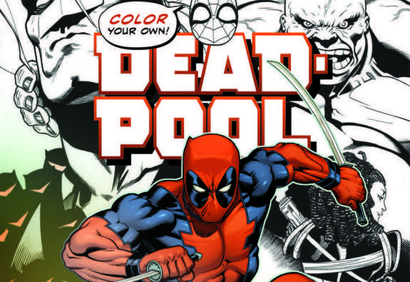 Color Your Own Deadpool Cover By Ed Mcguinness Komiks Pinterest