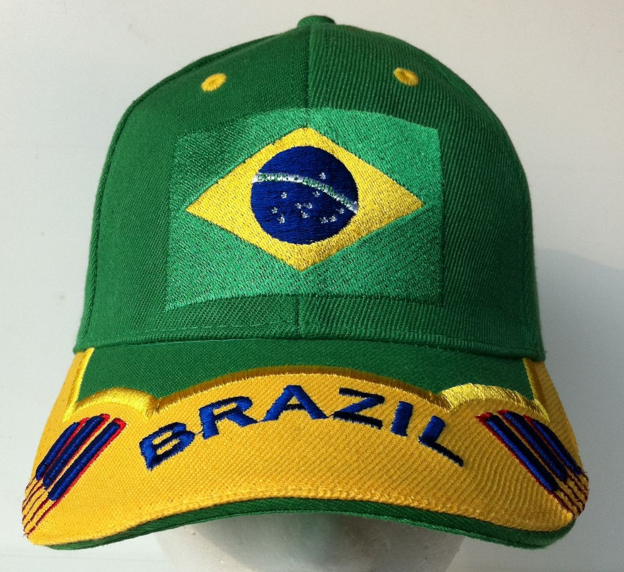 52d8adfdfda BRASIL BRAZIL BRAZILIAN WORLD SOCCER CUP ALL SPORTS CAP
