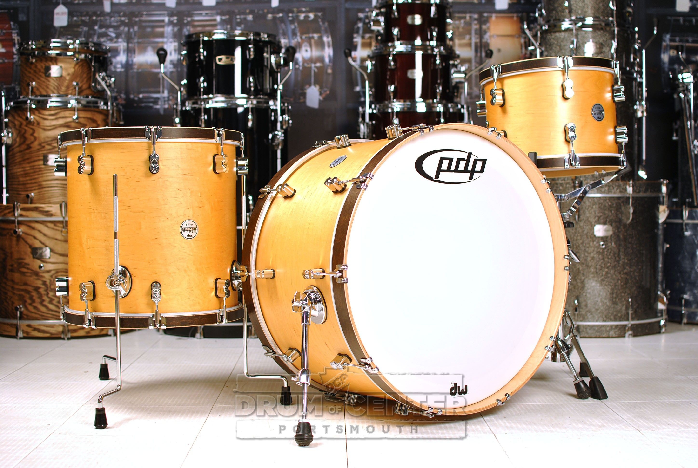 Pdp Concept Maple Classic 3pc Drum Set 24 13 16 Natural W Tobacco Wood Hoops Drum Sets Drums Drum Center Of Portsmouth Drums Drum Set Used Drums