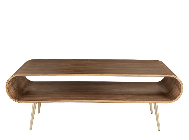 Hooper Storage Coffee Table Walnut And Brass Coffee Table With Storage Living Room Furniture Sale Coffee Table