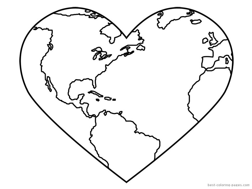 Earth Coloring Pages Printable Day