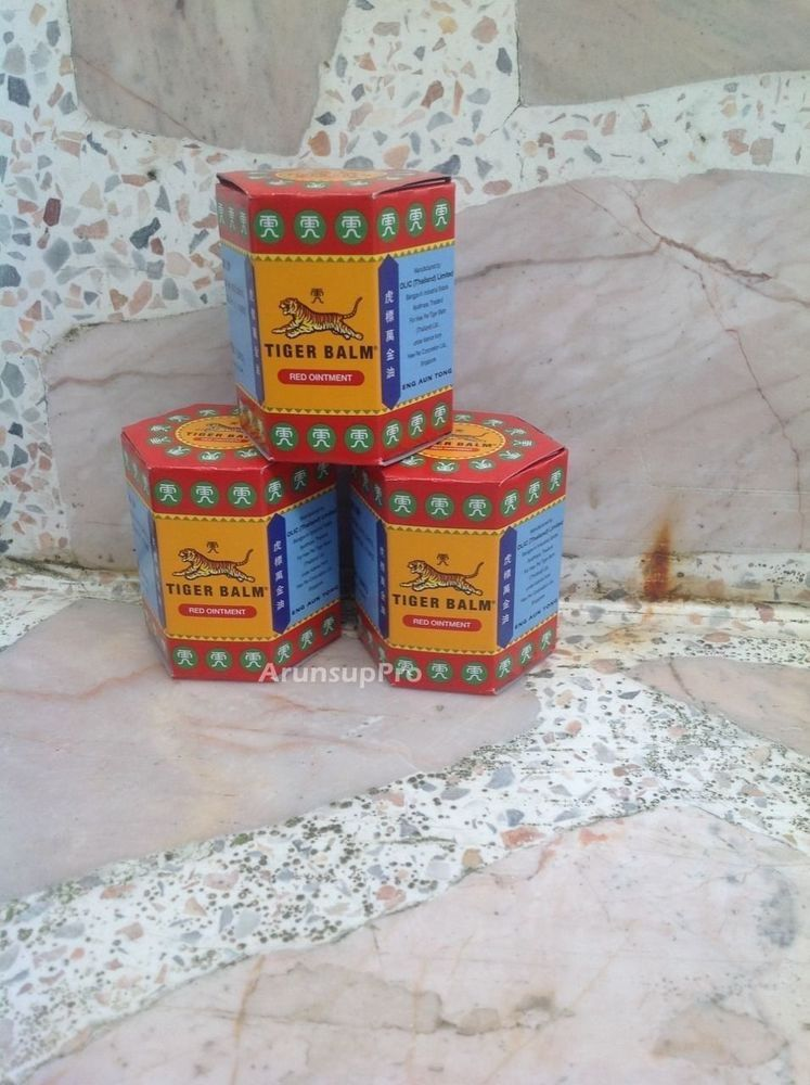 3x30g Tiger Balm RED ointment pain relief muscle aches massage rub FREE SHIPPING #TigerBalm