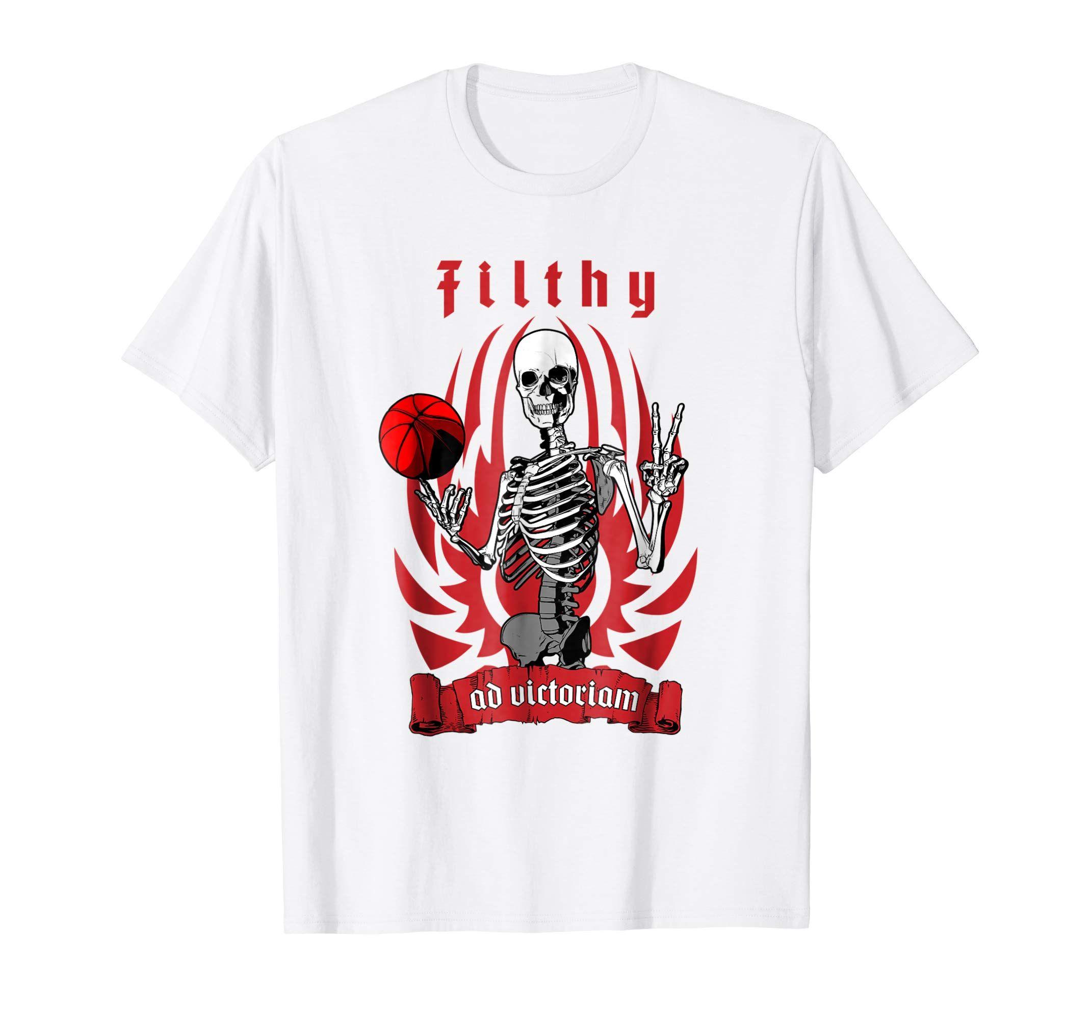 490b3c1477082 Amazon.com: Filthy Basketball Player Skeleton T-shirt: Clothing ...