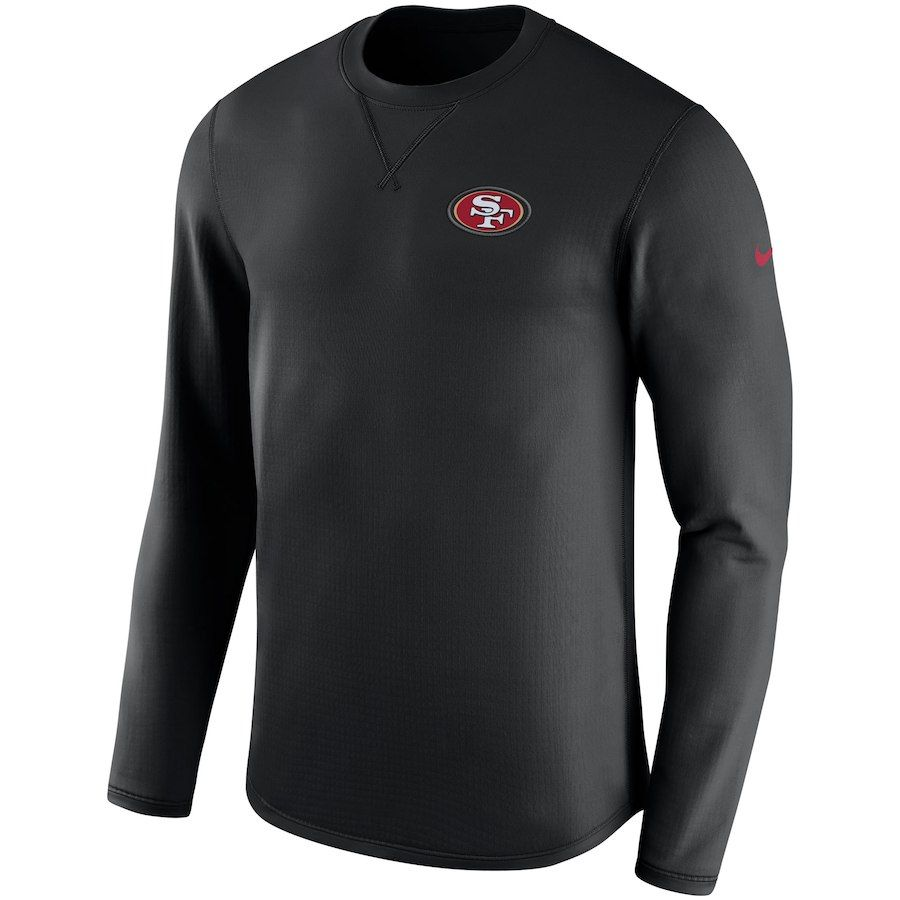 dd9c533c47d5 Men's San Francisco 49ers Nike Black Sideline Modern Long Sleeve Sweatshirt