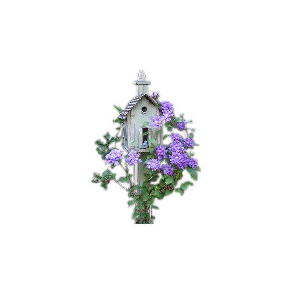 PolyBlogger Birds Houses ❤ liked on Polyvore featuring home, outdoors, outdoor decor, flowers, birdhouse, birds, garden, plants, bird houses and bird nesting box