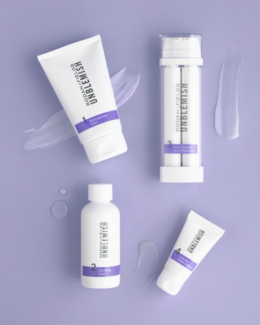 Say goodbye to acne, breakouts & blemishes. The Unblemish regimen helps clear and prevent breakouts while also tackling visible signs of aging like uneven skin tone, discoloration, pores and loss of firmness. All in 4 simple steps. Comes with a full money back guarantee, message me to get free shipping + a discount. Clear, radiant skin is a few steps away. #acnetreatment #acne #wrinkles #skincare
