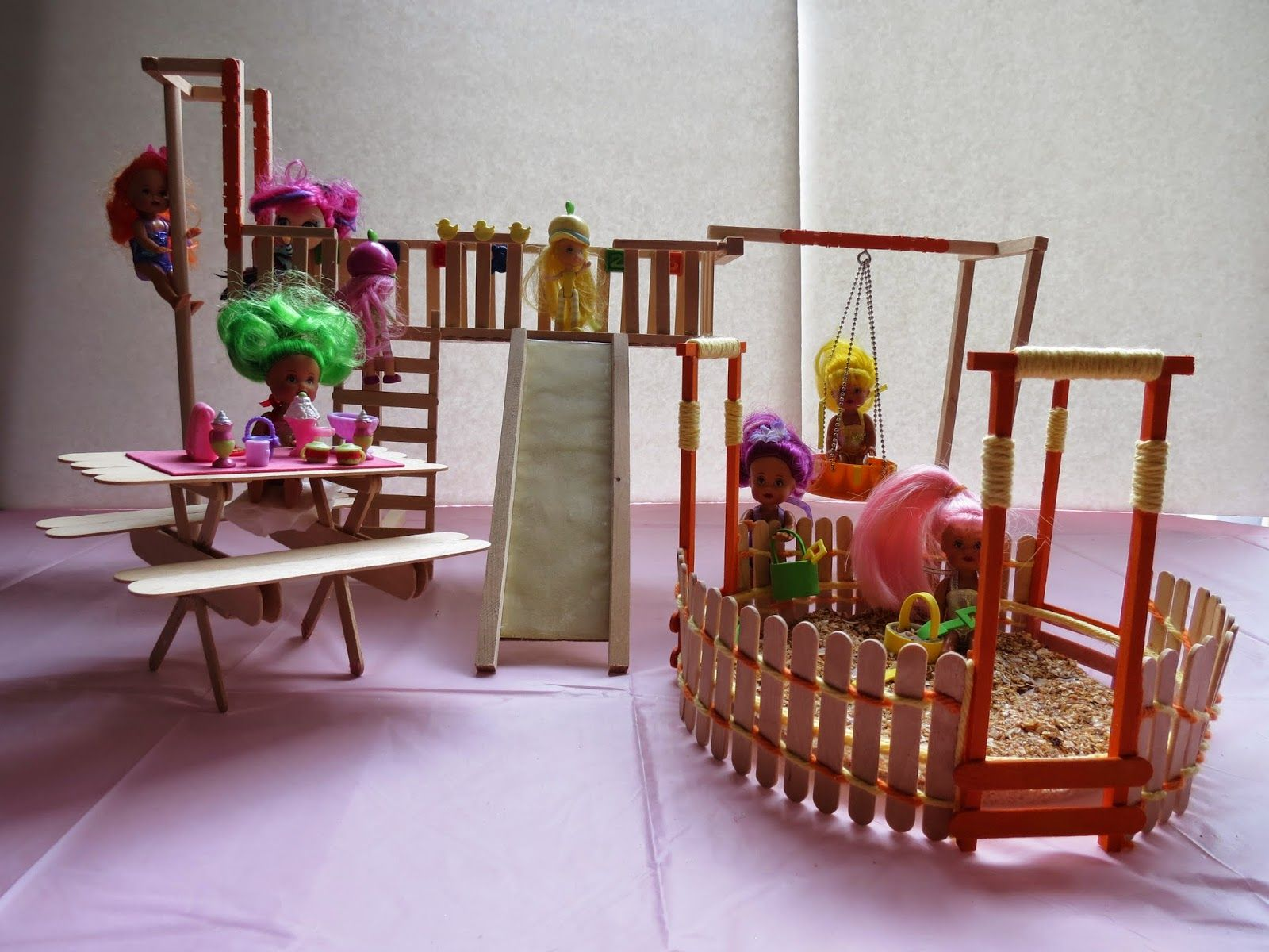 Miniature Doll Playground Crafts Diy From My Blog