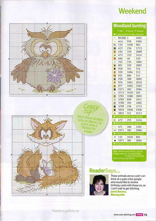 Cross Stitch Crazy 174 | In stitches: flying friends | Pinterest ...