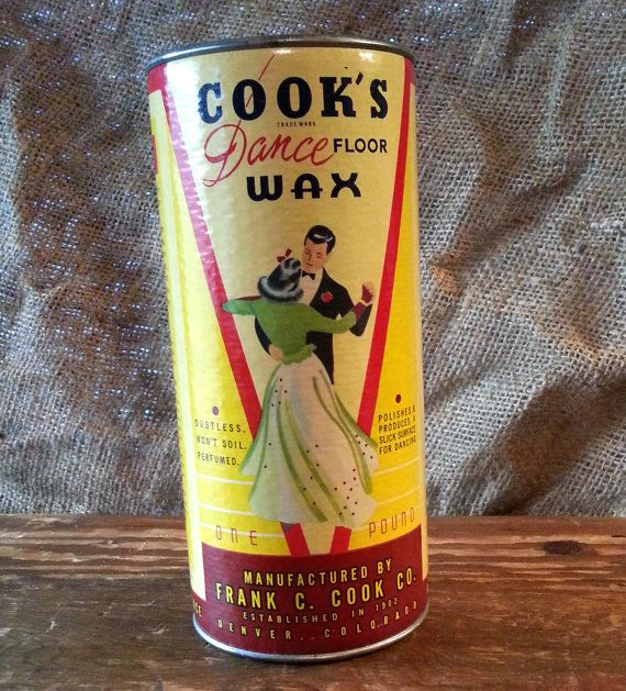 Vintage Cook S Dance Floor Wax Canister By Ryokosvintiques On Etsy