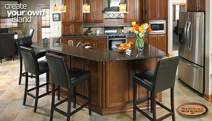 Cabinets Create Your Own Custom Showplace Island Yourself Kitchen