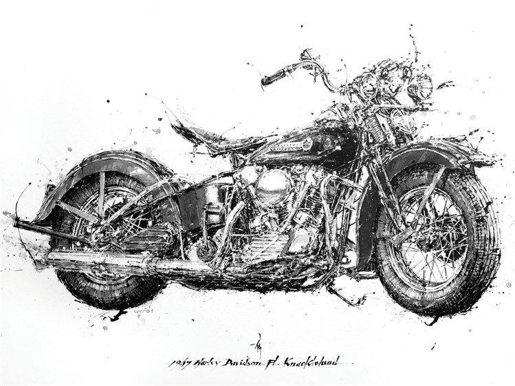 Desenhos De Motos Feitos Com Pauzinhos Chineses Desenho Moto