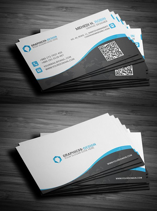 Creative business card template business card pinterest creative business card template cheaphphosting Gallery