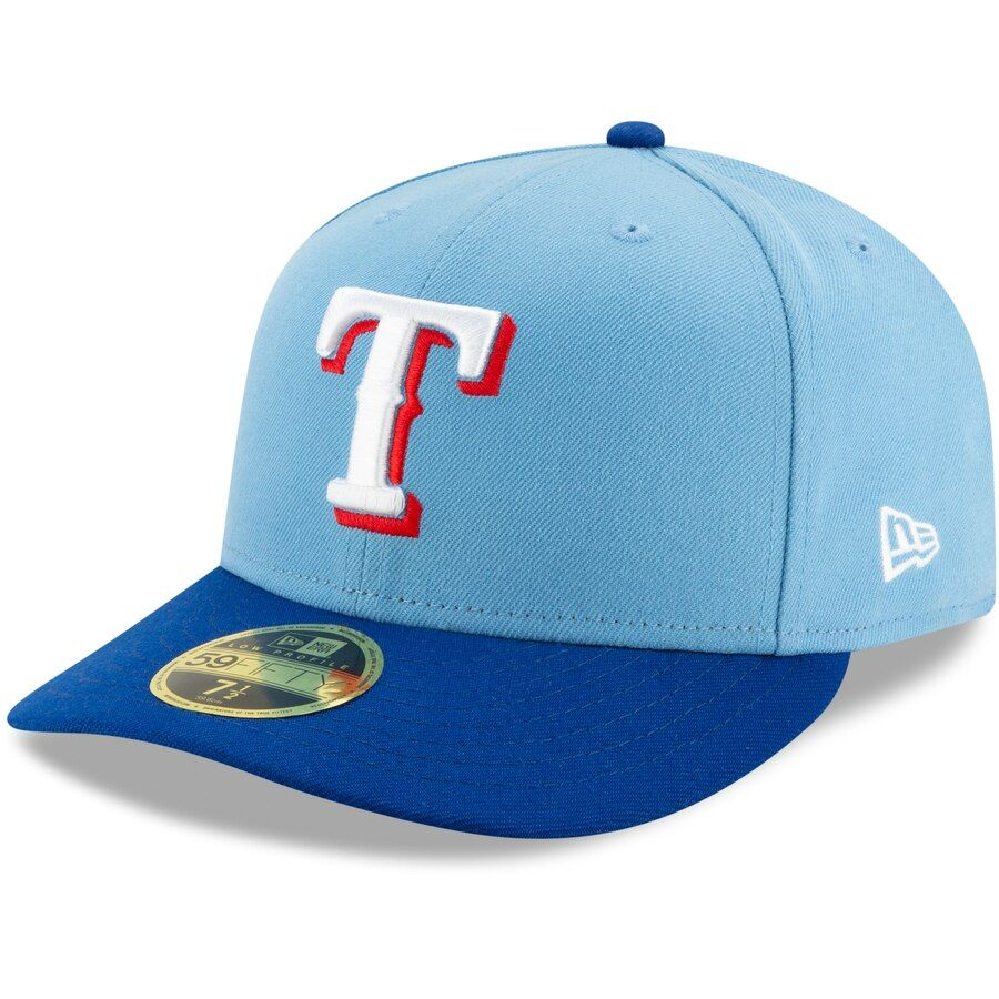 Texas Rangers New Era Light 2020 Alternate 2 Authentic Collection Low Profile 59fifty Fitted Hat Fitted Hats New Era Texas Rangers