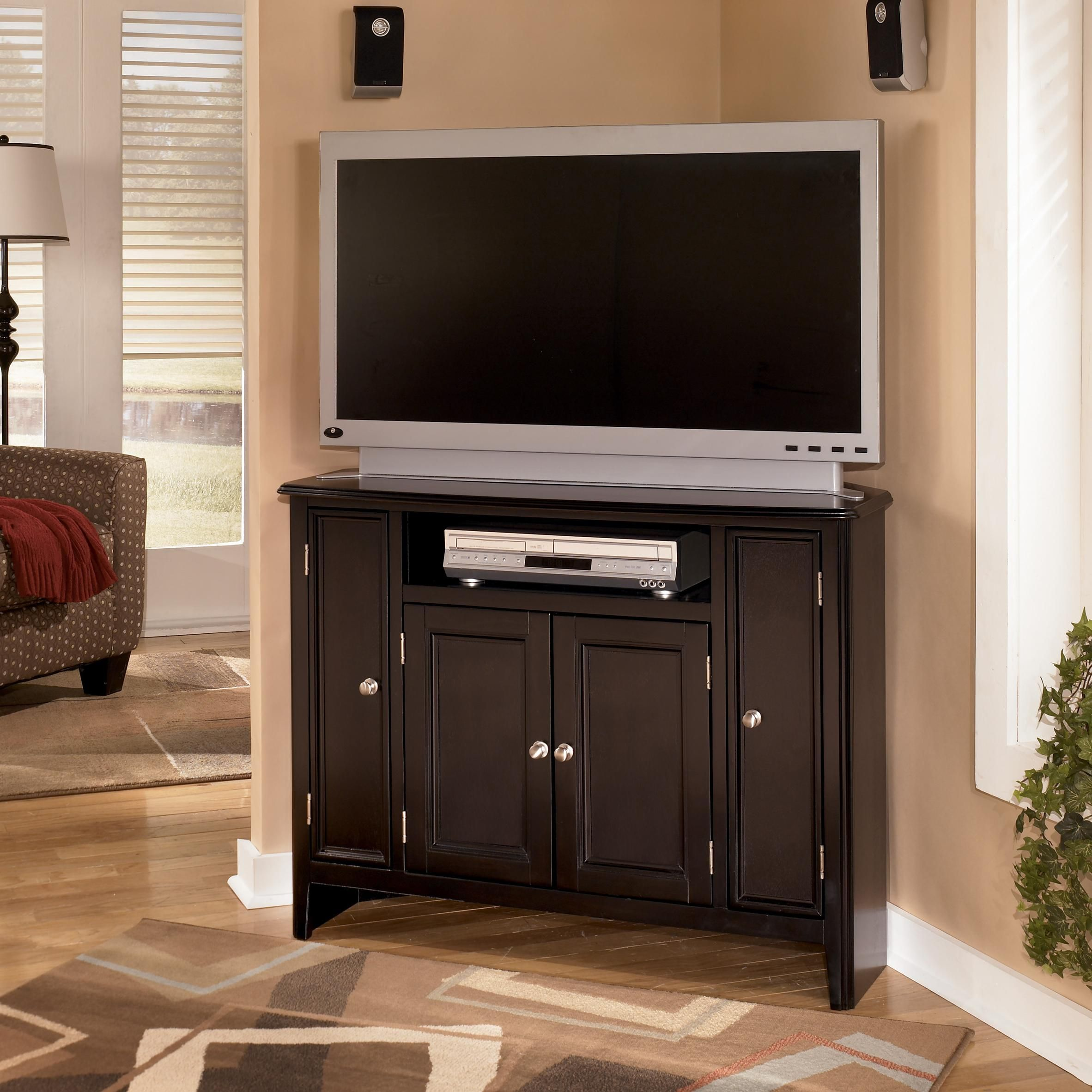 awesome home colonial living room furniture tv stand | Ashley Furniture Carlyle Corner TV Console at Regency ...