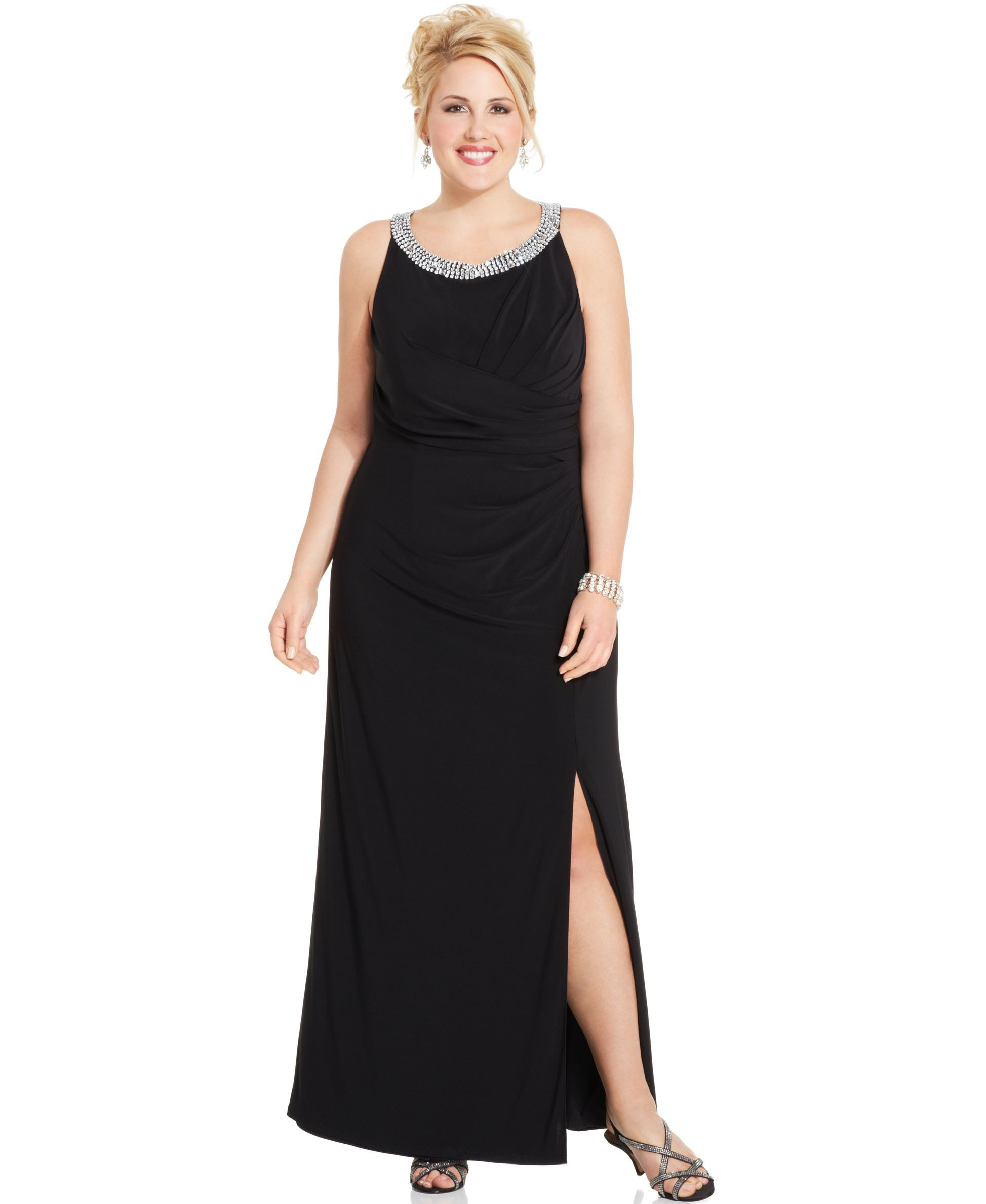 Alex evenings plus size embellished cutout gown products