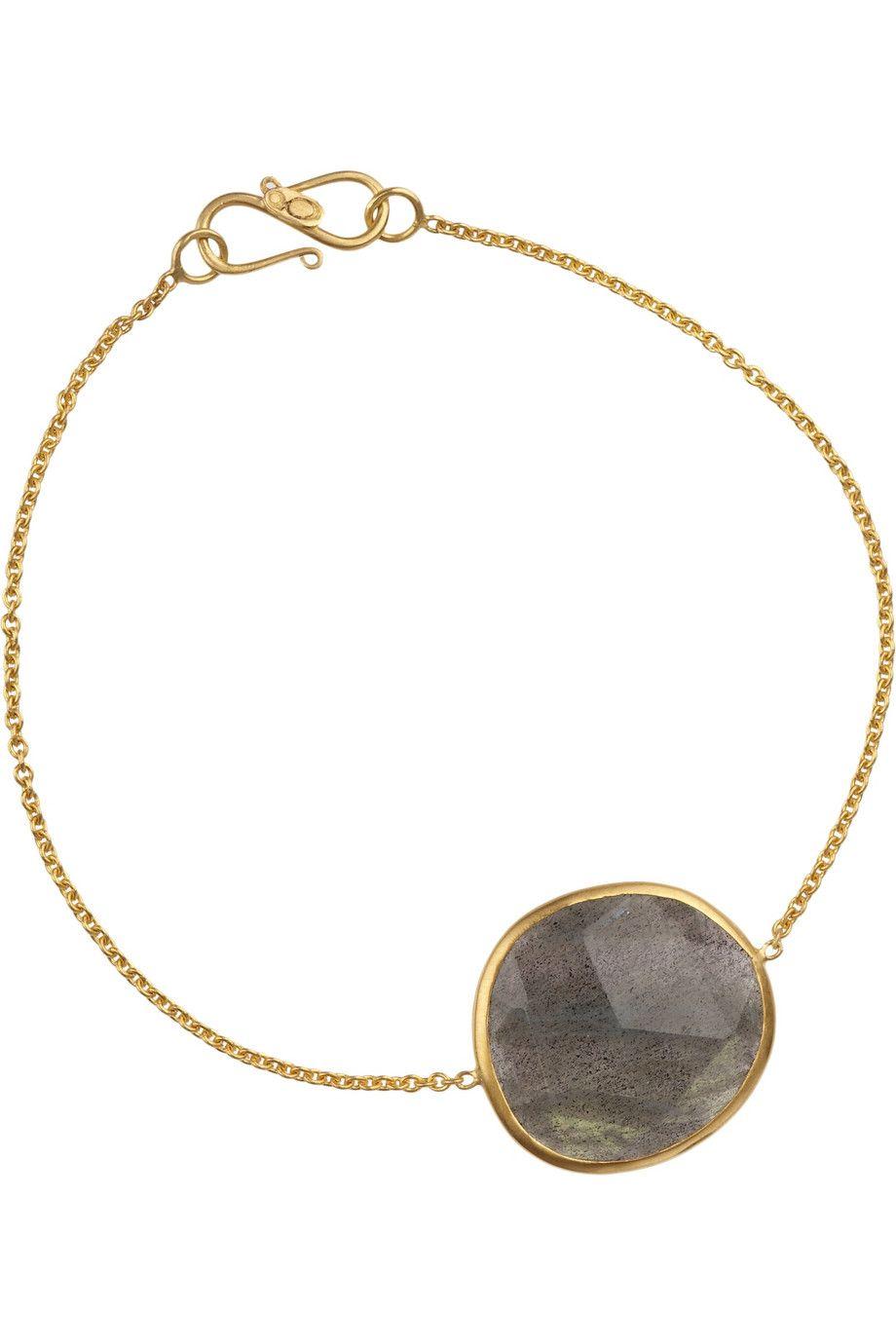 Pippa small karat gold labradorite bracelet netaportercom
