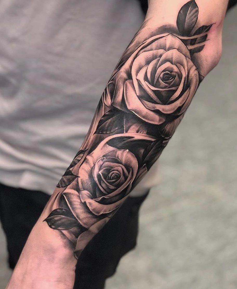 Likeabletattoo En Instagram Buen Trabajo Ritual A Tus Amigos Por Mas Que Sigan A Like Tatuaje De Rosa En El Antebrazo Tatuajes De Rosas Hombres Tatuajes
