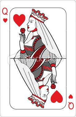Queen Of Hearts Playing Card Queen Of Hearts Card Queen Of