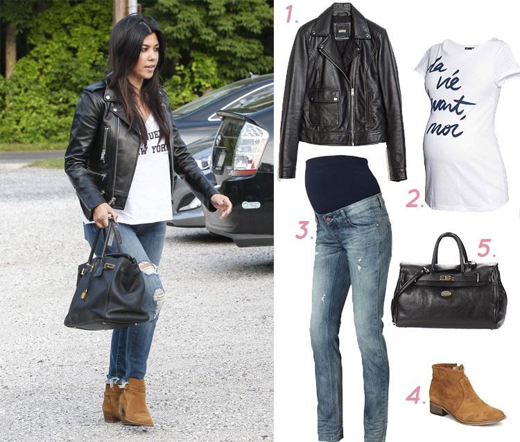 Enceinte J Adopte Le Look De Kourtney Kardashian Kourtney Kardashian A L Air D Avoir Pris Go T