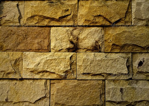 Background of stone wall made with blocks ... abstract, aged ...