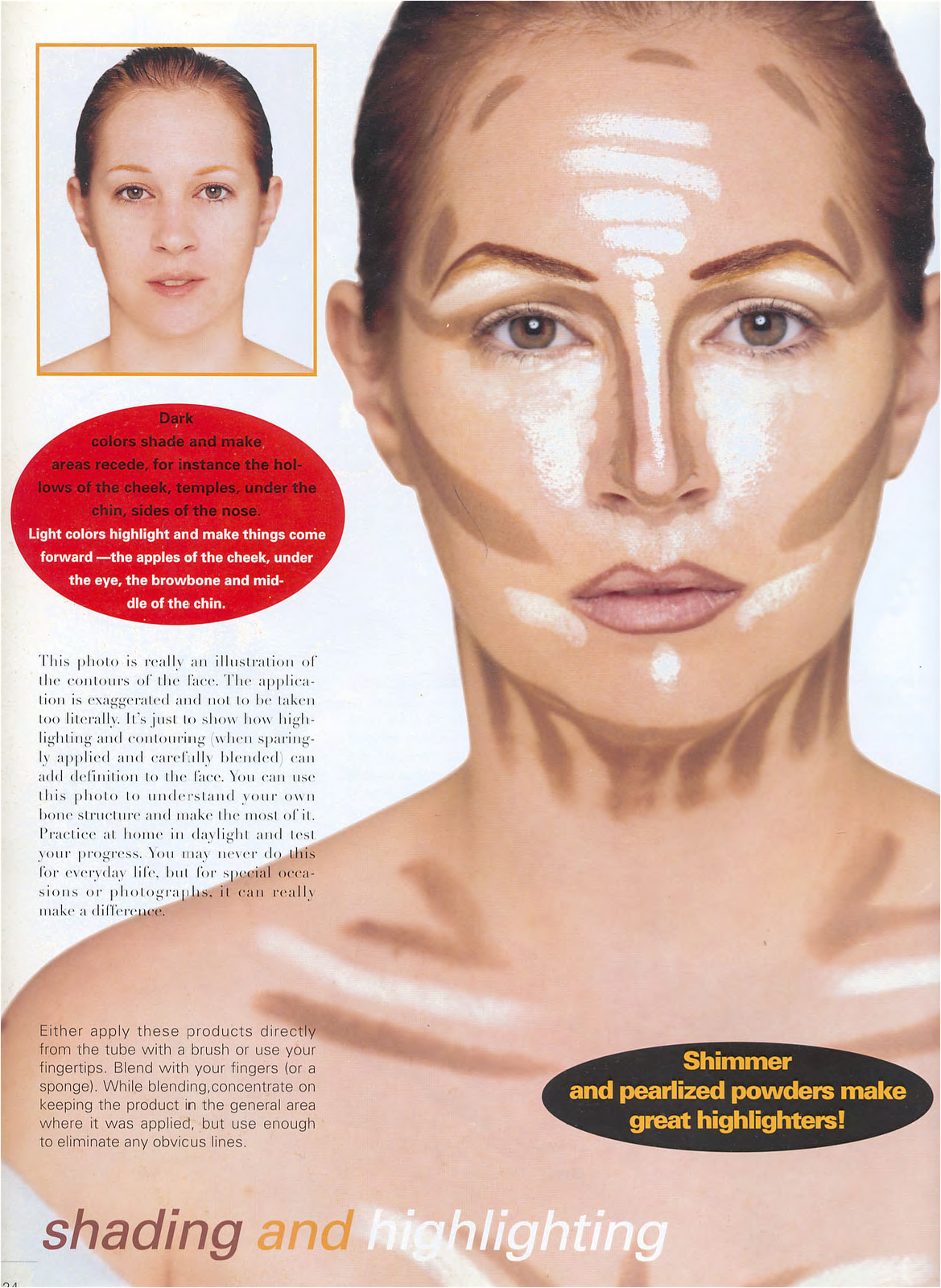 Kevyn Aucoin's Contouring & Highlighting From His Book Making Faces From  This Pix You Can