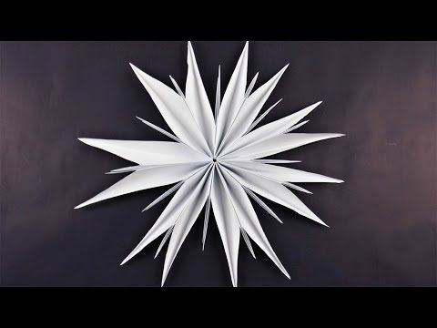 Stern aus Kopierpapier basteln ❁ Deko Ideen mit Flora-Shop