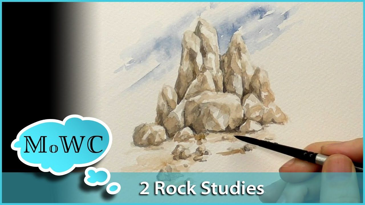 Painting Rocks And Boulders Two Studies Youtube With Images