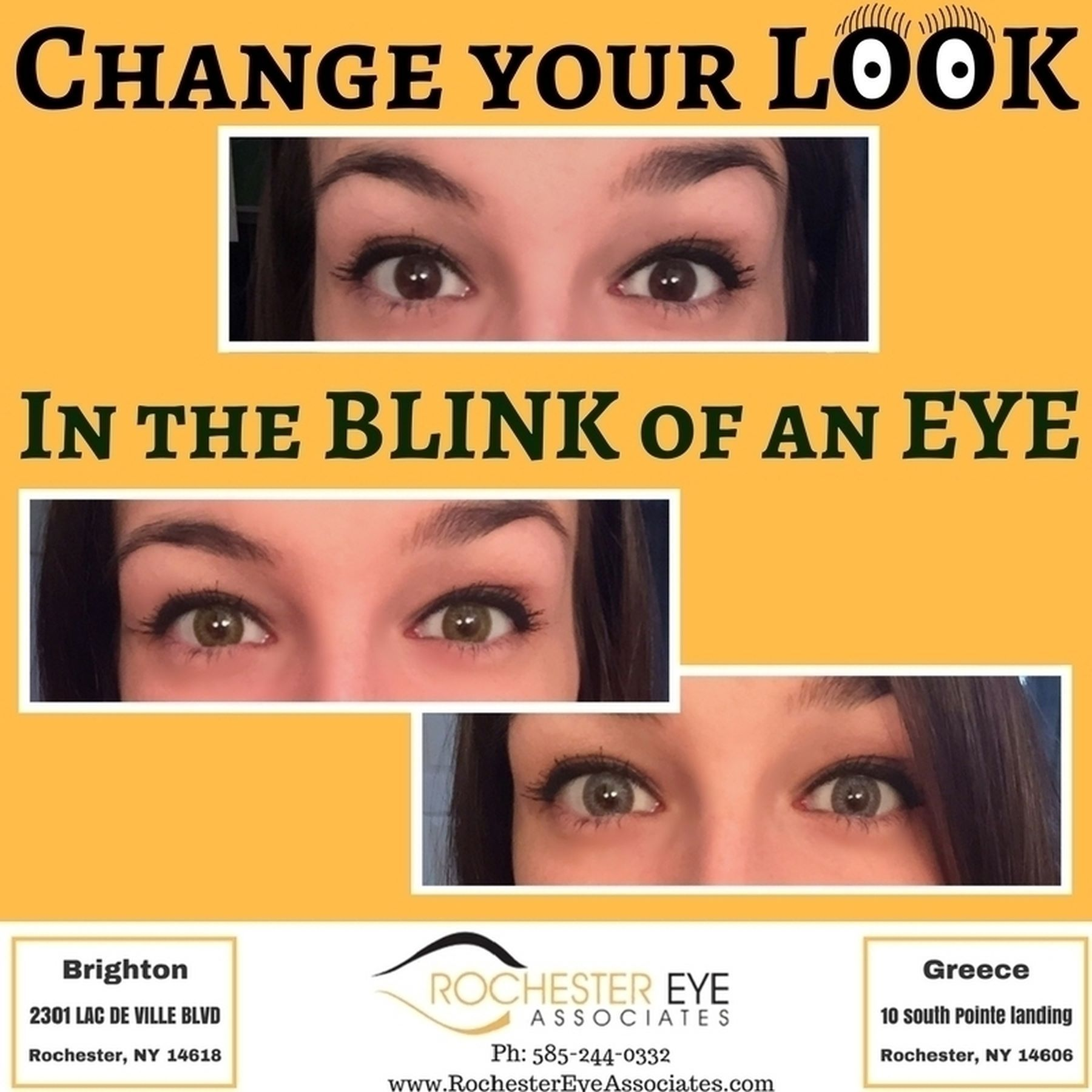 Change your look in the blink of an eye with colored