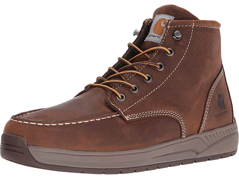 6b7b5122457 Carhartt 4 Lightweight Wedge Boot Men's Work Boots Brown Oil Tanned Leather