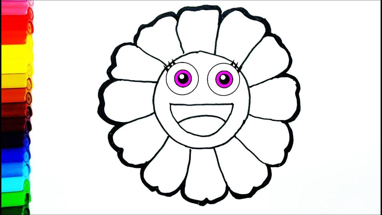 Cara Menggambar Dan Mewarnai Bunga Cantik Untuk Anak Anak Untuk