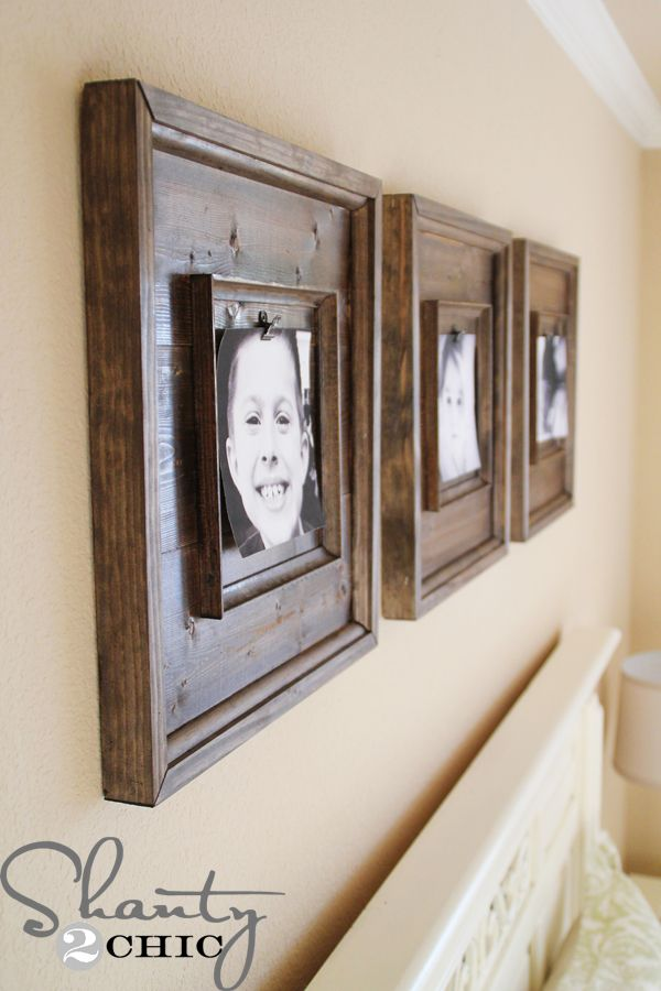 DIY Wall Art ~ $15 Wooden Frames | Marcos, Cuadro y Decoración