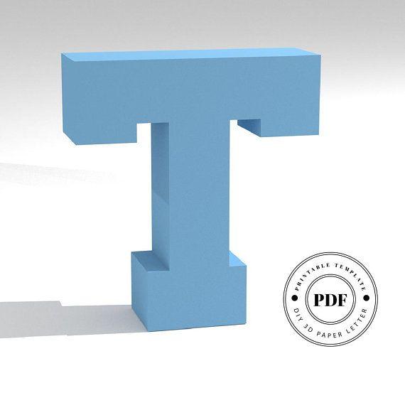 4c783e61974accf7229ef83a7585e371  D Letter Template Pdf on cut out, printable box,
