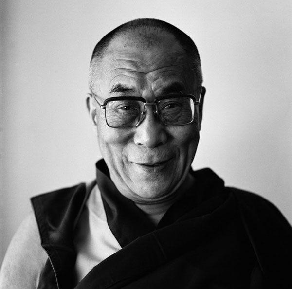Dalai Lama by Brigitte Lacombe   Photo: Portrait (B&W ...