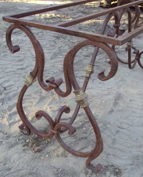 Wrought Iron Table Base Recycling The Past Architectural