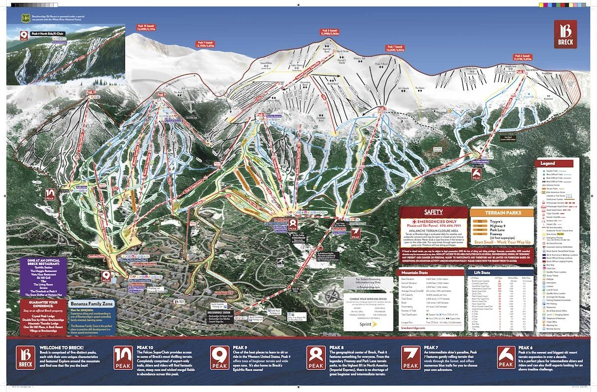 breckenridge trail map | ski slopes | trail maps, skiing