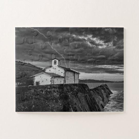 Puzzle de la ermita de San Telmo bajo la tormenta, Zumaya