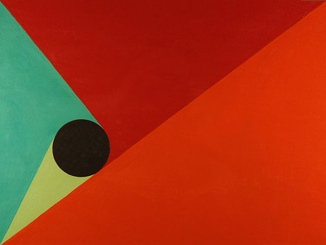 Geometric Abstraction Painting #25. Acrylic on art board. October 28th 2012.