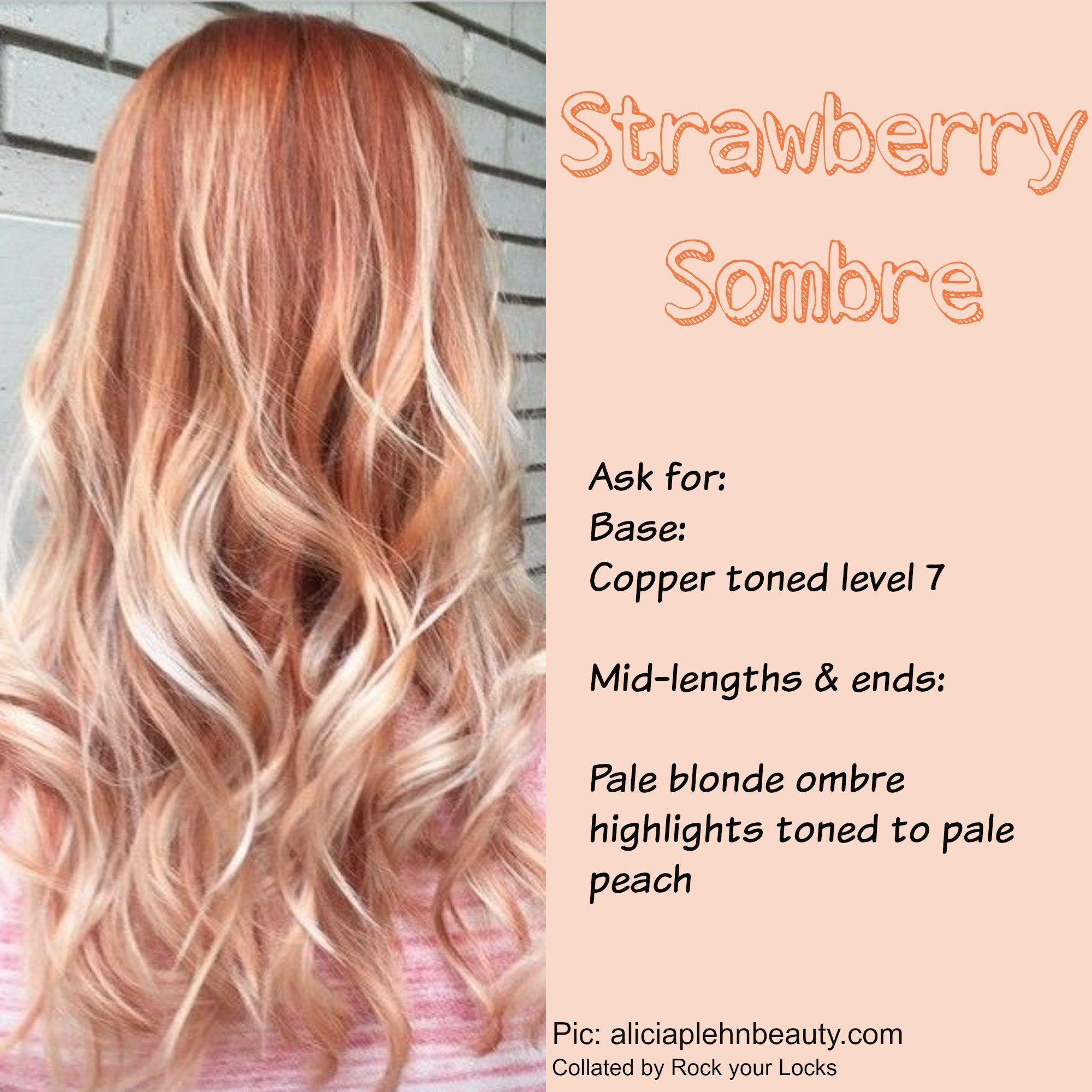 Strawberry Sombre Blonde Hair With Bangs Ombre Hair Blonde