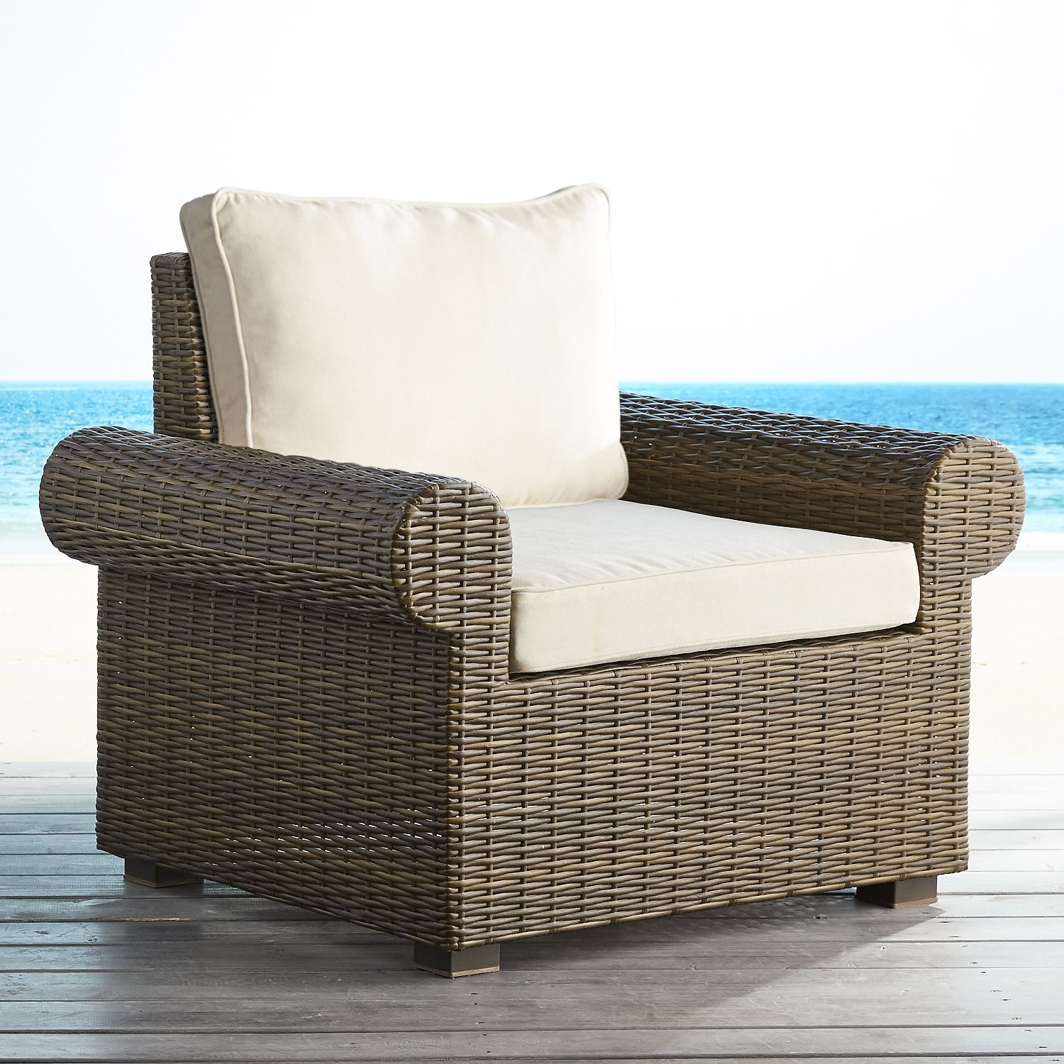 Echo beach latte roll armchair brown 3 piece patio set outdoor chairs outdoor furniture