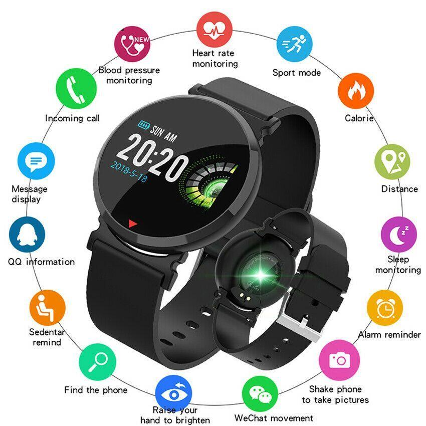 Smart Watch Bracelet Waterproof Wristband Fitness Tracker Upgraded iOS Android -...  Smart Watch Bra...